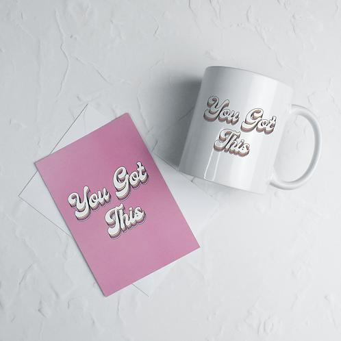You Got This Mug & Postcard Set