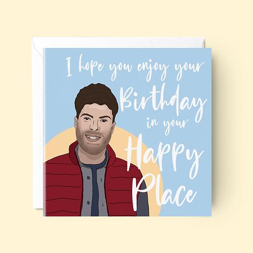 Jordan North I'm a Celeb Birthday Card