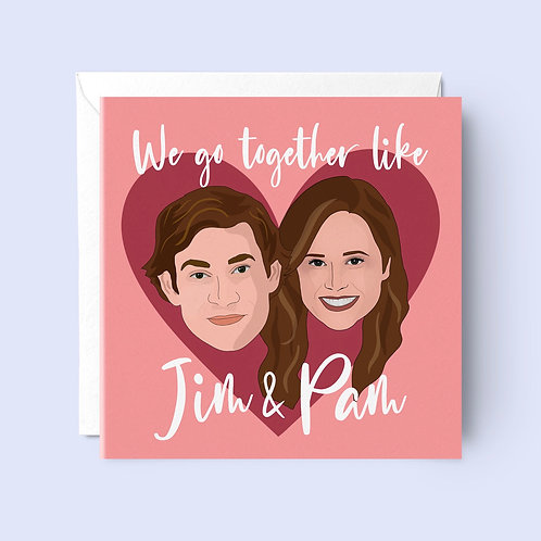 Jim and Pam Valentines Card