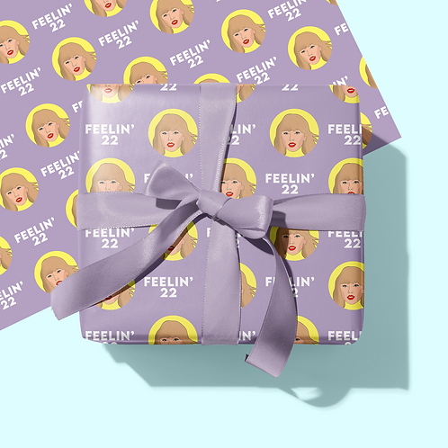 Taylor Swift 22 Wrapping Paper & Tag