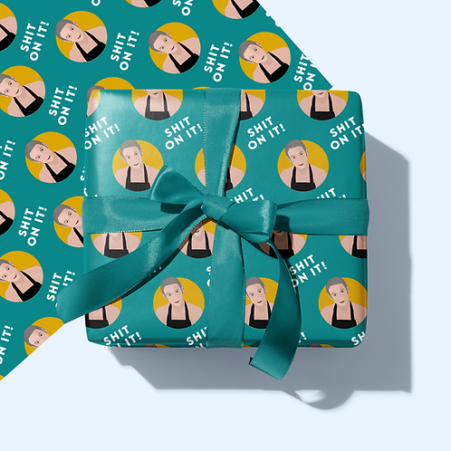 Shit On It Wrapping Paper & Tag