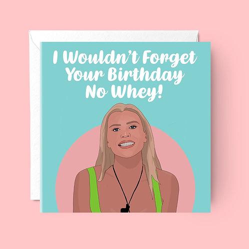 Chloe Love Island Birthday Card