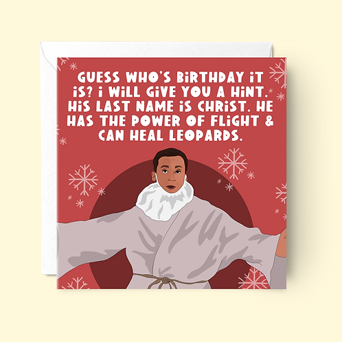 Michael Scott Jesus Christmas Card