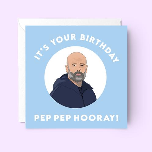 Pep Guardiola Birthday Card