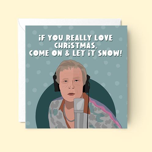 Billy Mack Christmas Card