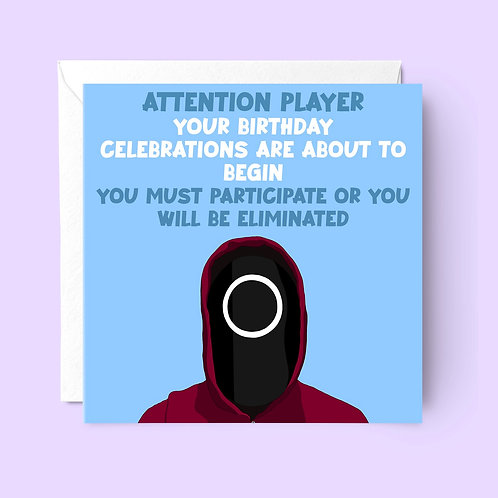 Squid Game Birthday Card