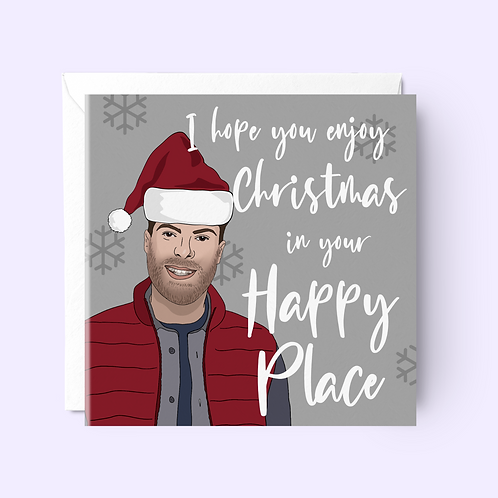 Jordan North I'm a Celeb Christmas Card