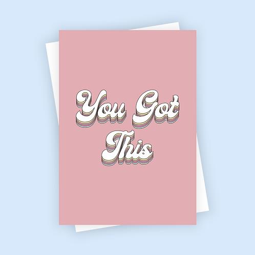You Got This Positive Postcard