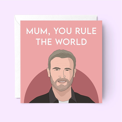Gary Barlow Mother's Day Card