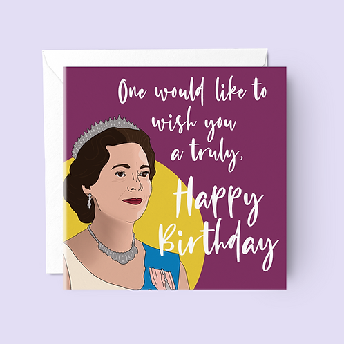 The Crown Birthday Card