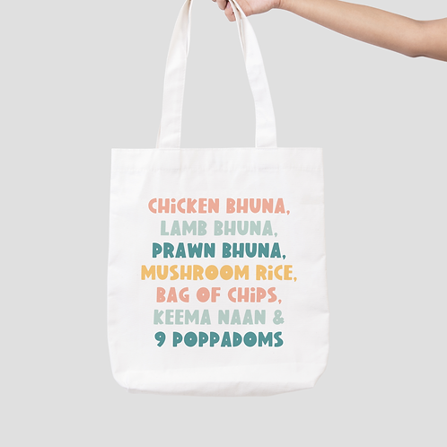 Smithy's Curry Tote Bag