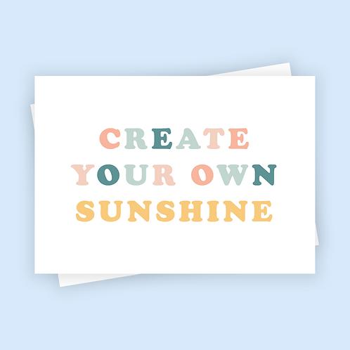 Create Your Own Sunshine Postcard