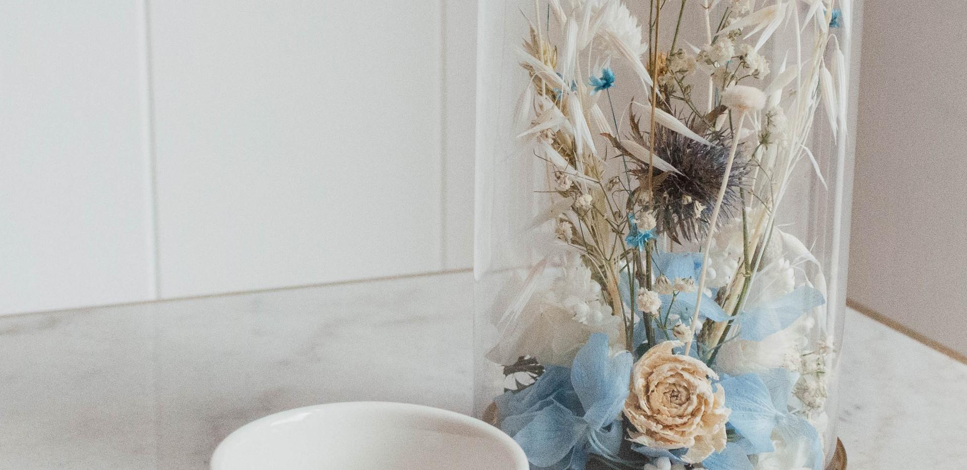 Cúpula de flor seca S