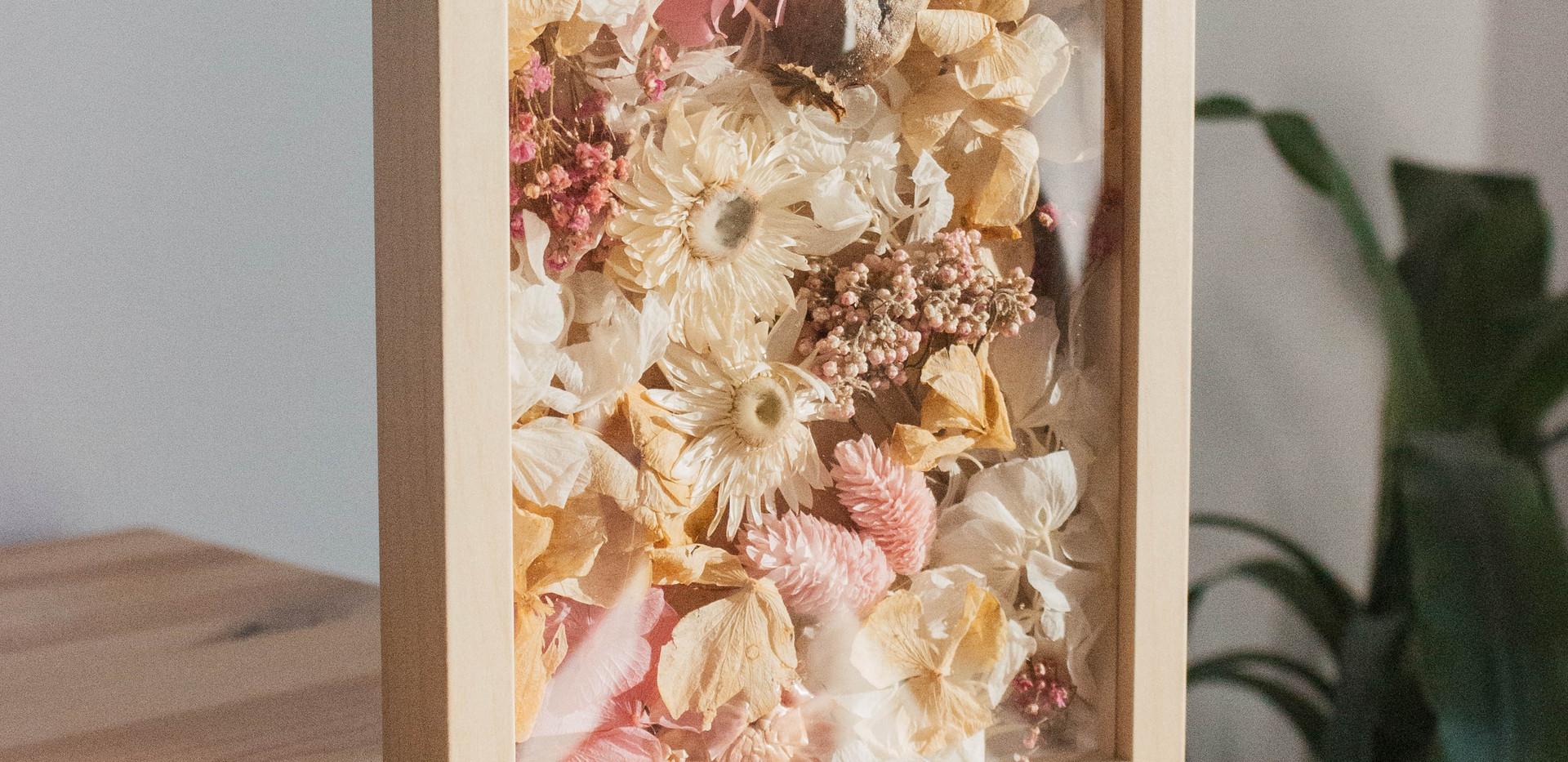 Marco de flor seca