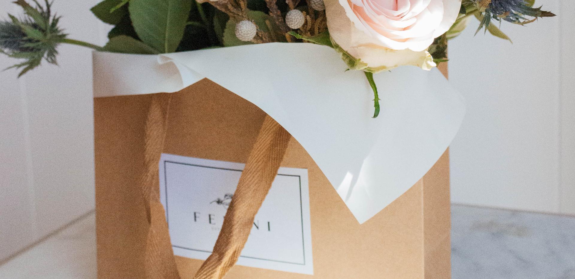 Flor en bolsa Sofía