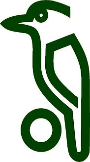 Kookaburra Logo - Bird - Dark Green.png