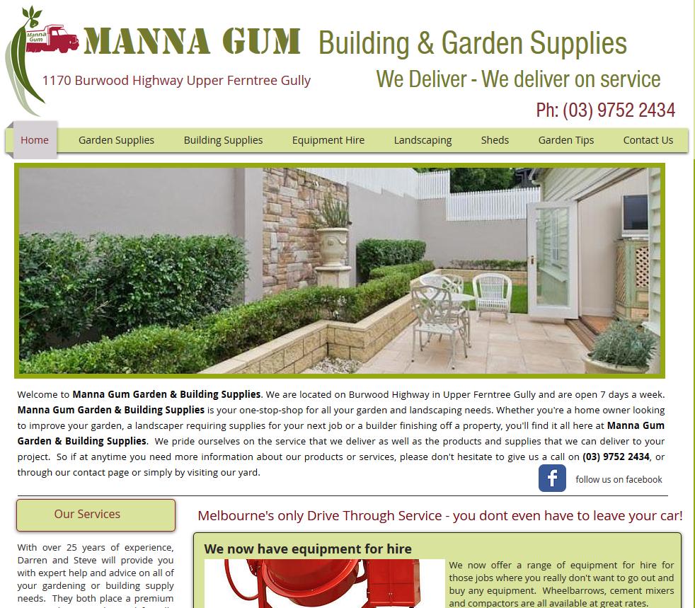Manna Gum Building & Garden Supplies