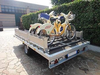 Sistema di trasporto biciclette P-BIKE Bicycle transport system