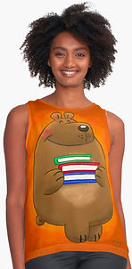 Patterson the Library Bear tank top by Erin Kant Barnard