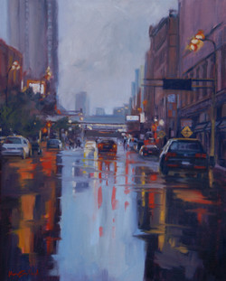 Rain on First Avenue