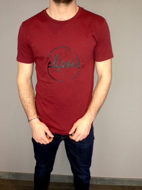Tee shirt mixte Elipsis - Bordeau