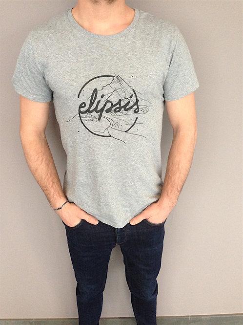 Tee shirt mixte Elipsis - Gris chiné
