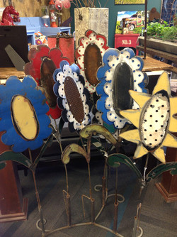 Spring Flowers!  Recycled car parts