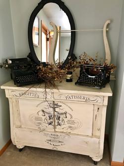Old dresser with custom transfer