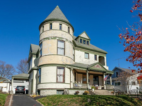 19th Century National Register Ohio Queen Anne With Incredible Turret Lists For $159,900!
