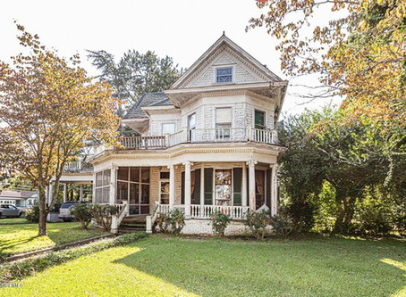 Five Bedroom North Carolina Victorian With Original Carved Woodwork & Pool Lists For $90,000