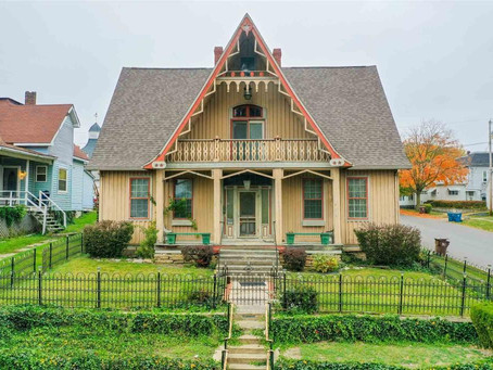 1850 Indiana Gothic Revival With 3,180 Sq Feet & Hidden Room Lists For Just $130K. See Inside!