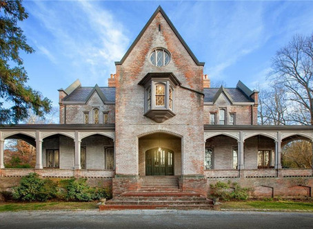1867 Alexander Davis Designed Gothic NY Estate With Grand Rooms & Keyhole Staircase Lists At $4.95M