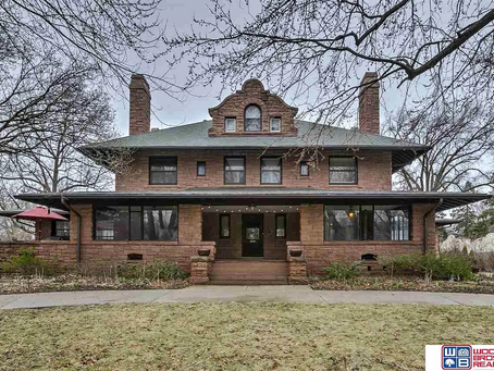 Nebraska Mission Style Mansion With Floating Staircase Lists For $850K!