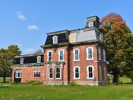 1873 NY Second Empire Mansion Restoration Project With 3 Acres Lists For $125,000