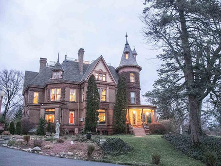 "Famed Michigan ""Henderson Castle"" With 14 Beds, 17 Baths & 3 Acres Lists For $3.9 Million"
