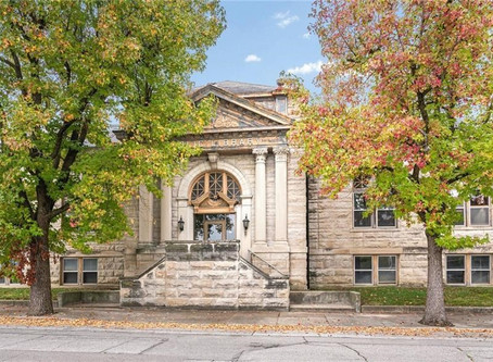 Historic 1903 Indiana Carnegie Library With 3 Bedrooms And Stunning Original Woodwork Lists At $125K