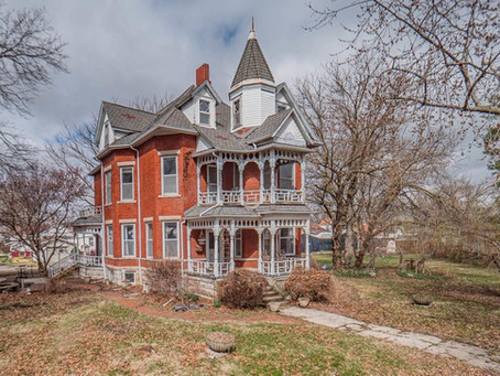 1880 Ornate Victorian With 6 City Lots & 3rd Floor Bar Lists At $130,000. Look Inside!