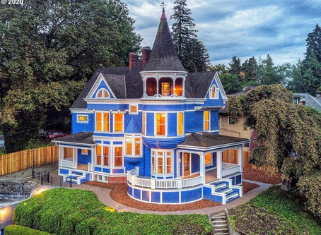 1892 Portland, OR Poulsen House With 8 Bedrooms, Turret, & Stunning River Views Lists at $1,750,000