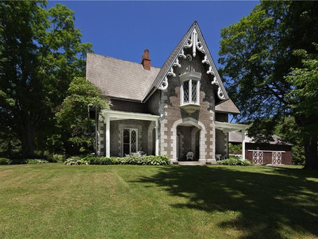 9 Bedroom 1850 Gothic Revival New York Farmhouse With 143 Acres Lists For $1,775,000