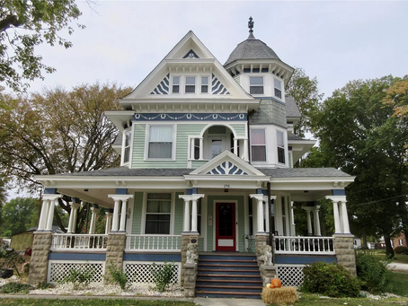 Restored George Barber Victorian With $12,000 Stained Glass Windows Lists At $325K! See Inside!