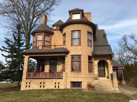 6 Bedroom Illinois Romanesque Victorian With Original Curved Woodwork Lists For Just $229,900