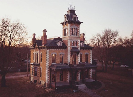 10,000 Sq Foot 1880 Lebold Mansion With Hand Painted Ceilings & 23 Rooms Lists for $429,069