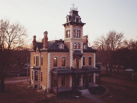10,000 Sq Foot 1880 Lebold Mansion With Hand Painted Ceilings & 23 Rooms Lists for $419,000