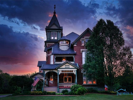 Ohio 1883 Charles Bigelow Mansion With 7 Fireplaces & Original Woodwork Lists At Just $399K!