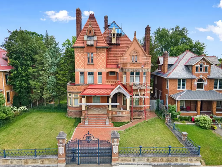 """German Inspired Ohio """"Chateau"""" With 9,000 Sq Feet & Grand Details Comes to Market! See Inside!"""
