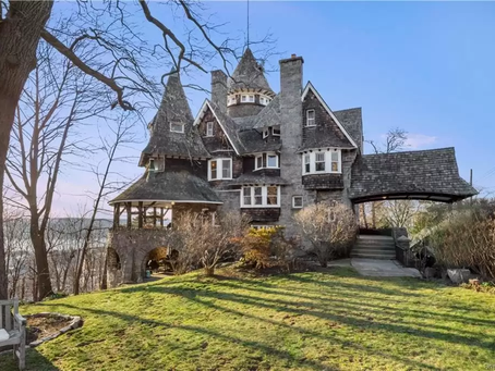 "9 Bedroom NY 1892 Shingle Style ""Castle of Park Hill"" Lists for $1.29 Million! See Inside!"