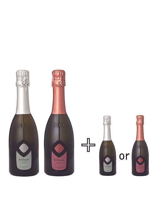 お家で飲み比べブリランテセット  Brillante Crystal Brut /Ruby Rose  375ml  クリスタルブリュット/ルビーロゼ