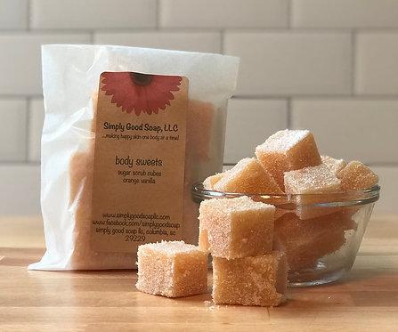 Orange Vanilla Sugar Scrub Cubes