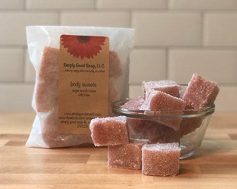 Wild Rose Sugar Scrub Cubes
