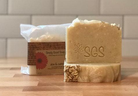 Aloe & Oatmeal unscented soap